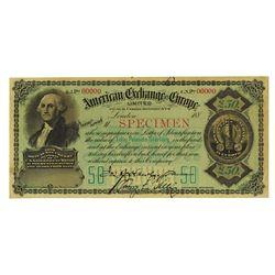 American Exchange in Europe, ND (ca. 1880s), Specimen Exchange