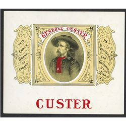 Custar Cigar Label ca.1880-1890