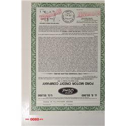 Ford Motor Credit Co., 1984 Specimen Bond