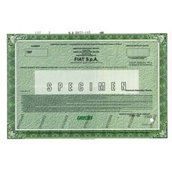 Fiat S.p.A., 1989 Specimen Stock Certificate