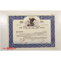 Bank of Old York Road, ca.1940-1950 Specimen Stock