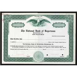 National Bank of Boyertown, 1967 Specimen Stock