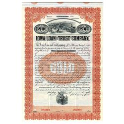 Iowa Loan and Trust Co., ca.1920-1930 Specimen Bond