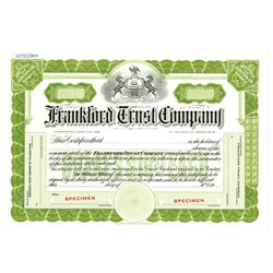 Frankford Trust Co., ca.1930-1950 Specimen Stock Certificate