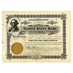 Camas State Bank, 1911 Issued Stock Certificate