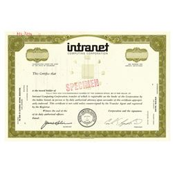 Intranet Computing Corp., 1970 Specimen Stock Certificate