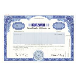Kurzweil Applied Intelligence, Inc., 1996 Specimen Stock Certificate