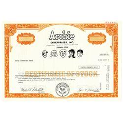 Archie Enterprises, Inc., 1978 Specimen Stock Certificate