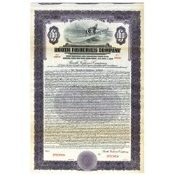 Booth Fisheries Co., 1926 Specimen Bond