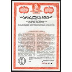 Canadian Pacific Railway, ca.1960-1970 Specimen Bond