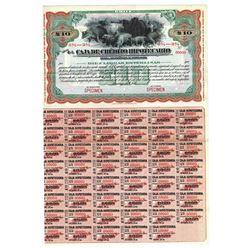 Caja de Credito Hipotecario, ca.1920-1930 Specimen Bond