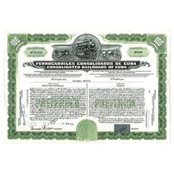 Consolidated Railroads of Cuba, 1960 Issued Bond