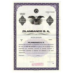 Filanbanco S.A. ca.1900-1930 Specimen Bond