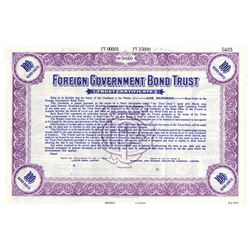 Foreign Government Bond Trust, 1934 Specimen Bond