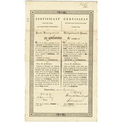D'Inscription Russe - 6%, Assignations De Banque, 1835, 1000 Rubles, Perpetual Loan Dutch Certificat