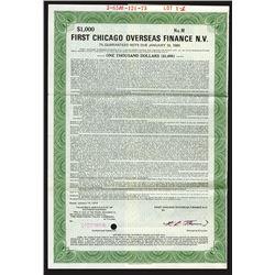 First Chicago Overseas Finance N.V. 1973 Specimen Bond