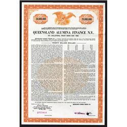 Queensland Alumina Finance N.V. 1970 Specimen Bond