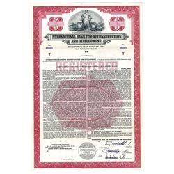 International Bank for Reconstruction and Development, 1960 Specimen Bond