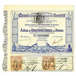 Canal Interoceanique de Panama, 1886 Issued Bond