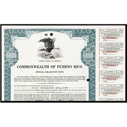 Commonwealth of Puerto Rico., 1974 Special Obligation Note