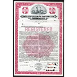 International Bank for Reconstruction and Development 1960 Specimen Bond