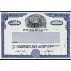 Brown & Brown, Inc., 1999 Specimen Stock Certificate