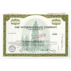 Intermountain Co., 1969 Specimen Stock Certificate