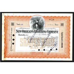 New Orleans Lighting Company, 1904 Stock Certificate.