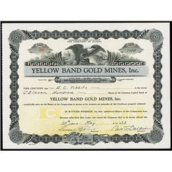 Yellow Band Gold Mines, Inc., 1938 Issued Stock
