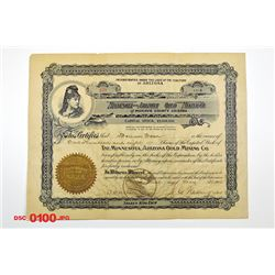 Minnesota and Arizona Gold Mining Co., 1902 Issued Stock