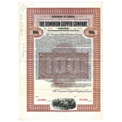 Dominion Copper Co., 1905 Specimen Bond