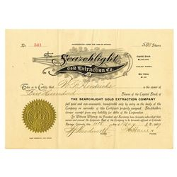 Searchlight Gold Extraction Co., 1907 Issued Stock Certificate
