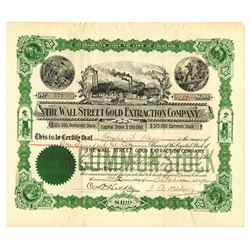 Wall Street Gold Extraction, 1901 Issued Stock Certificate