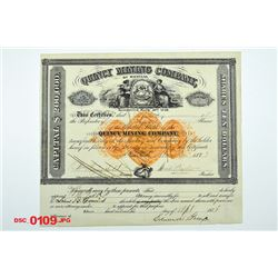 Quincy Mining Co., 1873 Issued Stock