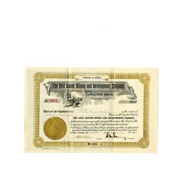 Gold Center Mining and Development Co., Bullfrog Mining District, Nevada, 1906 Issued Stock Certific