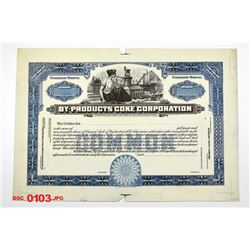 By-Products Coke Corp., ca.1910-1920 Proof Stock Certificate