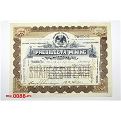 Predilecta Mining Co., 1909 Issued Stock