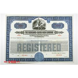 Cleveland-Cliffs Iron Co., ca.1920-1930 Specimen Bond