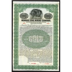 Monroe Coal Mining Co., 1916 Specimen Bond