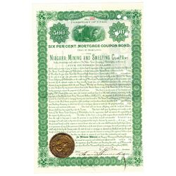 Niagara Mining and Smelting Co., 1893 Issued Bond