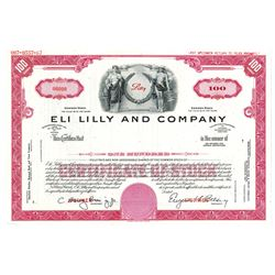 Eli Lilly and Co., 1967 Specimen Stock Certificate