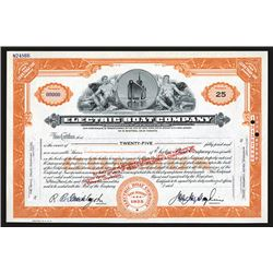 Electric Boat Co., ND ca.1950's Specimen Stock Certificate.