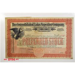 Consolidated Lake Superior Co., ca.1920-1930 Specimen Stock