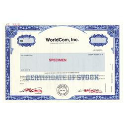 "WorldCom, Inc., ca.1980-1990 Specimen Stock Certificate ""Bernie Ebber"" Scam Certificate."