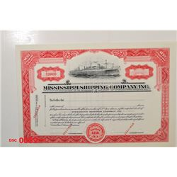 Mississippi Shipping Co. Inc., ca.1950-1960 Specimen Stock