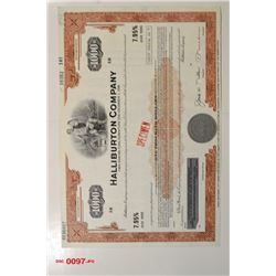 Halliburton Co., ca.1970-1980 Specimen Bond