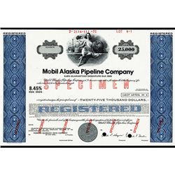 Mobile Alaska Pipeline Co., 1975 Specimen Bond.