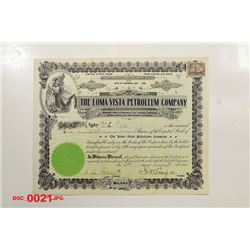 Loma Vista Petroleum Co., 1900 Issued Stock