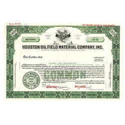 Houston Oil Field Material Co., Inc., 1967 Specimen Stock Certificate