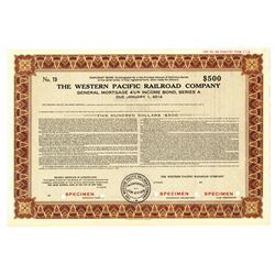 Western Pacific Railroad Co., 1939 Specimen Bond